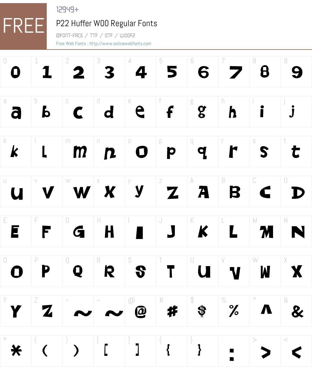 P22 Huffer Font Screenshots
