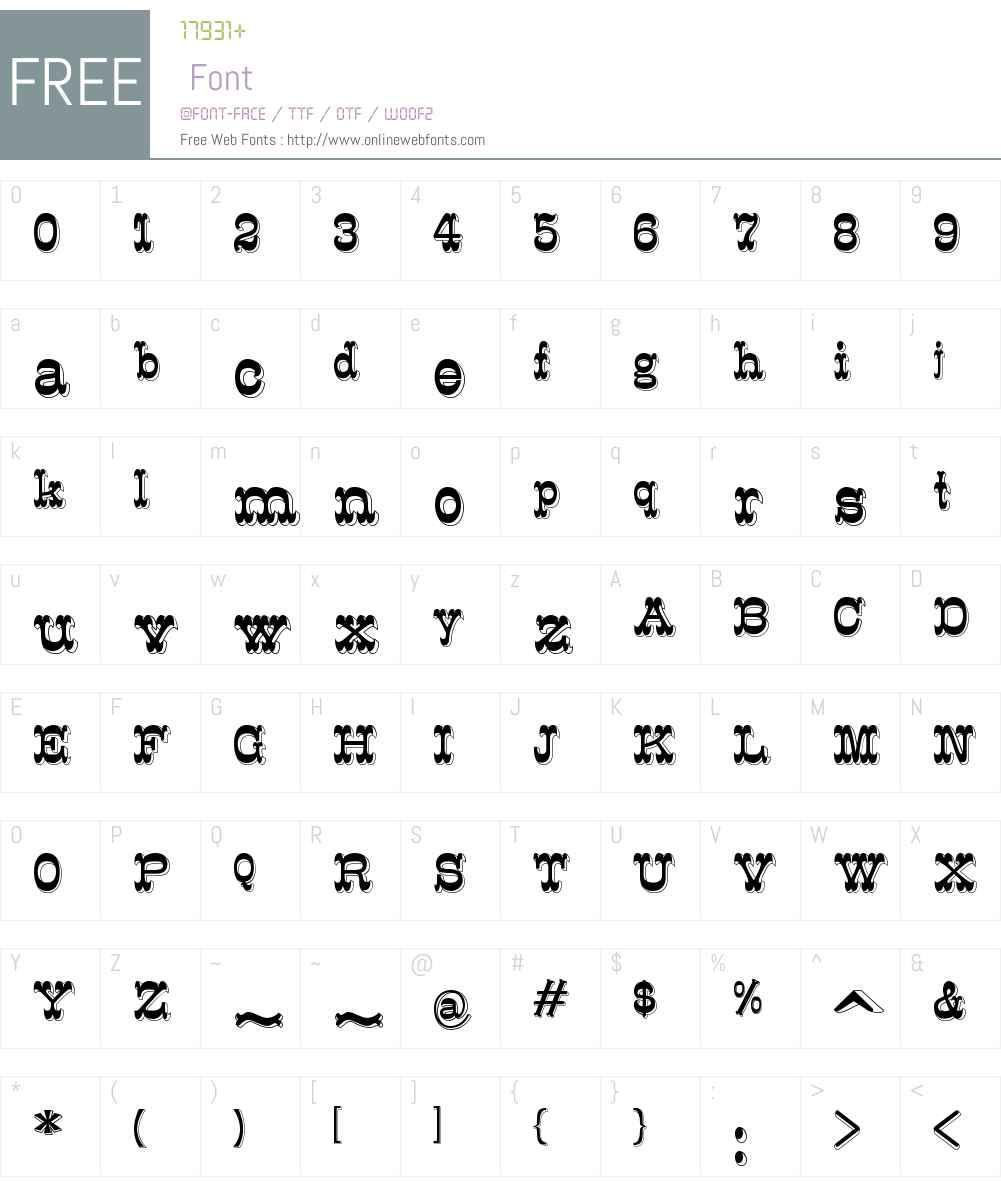 K22 Eclair Font Screenshots