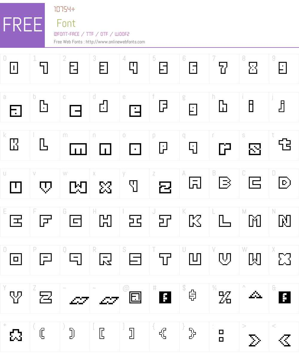 Thirteen Pixel Fonts Font Screenshots