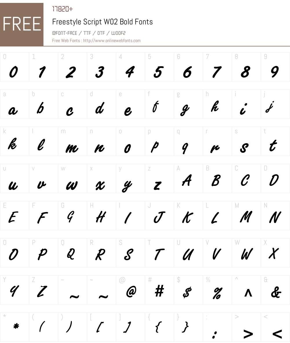 Freestyle Script Font Screenshots