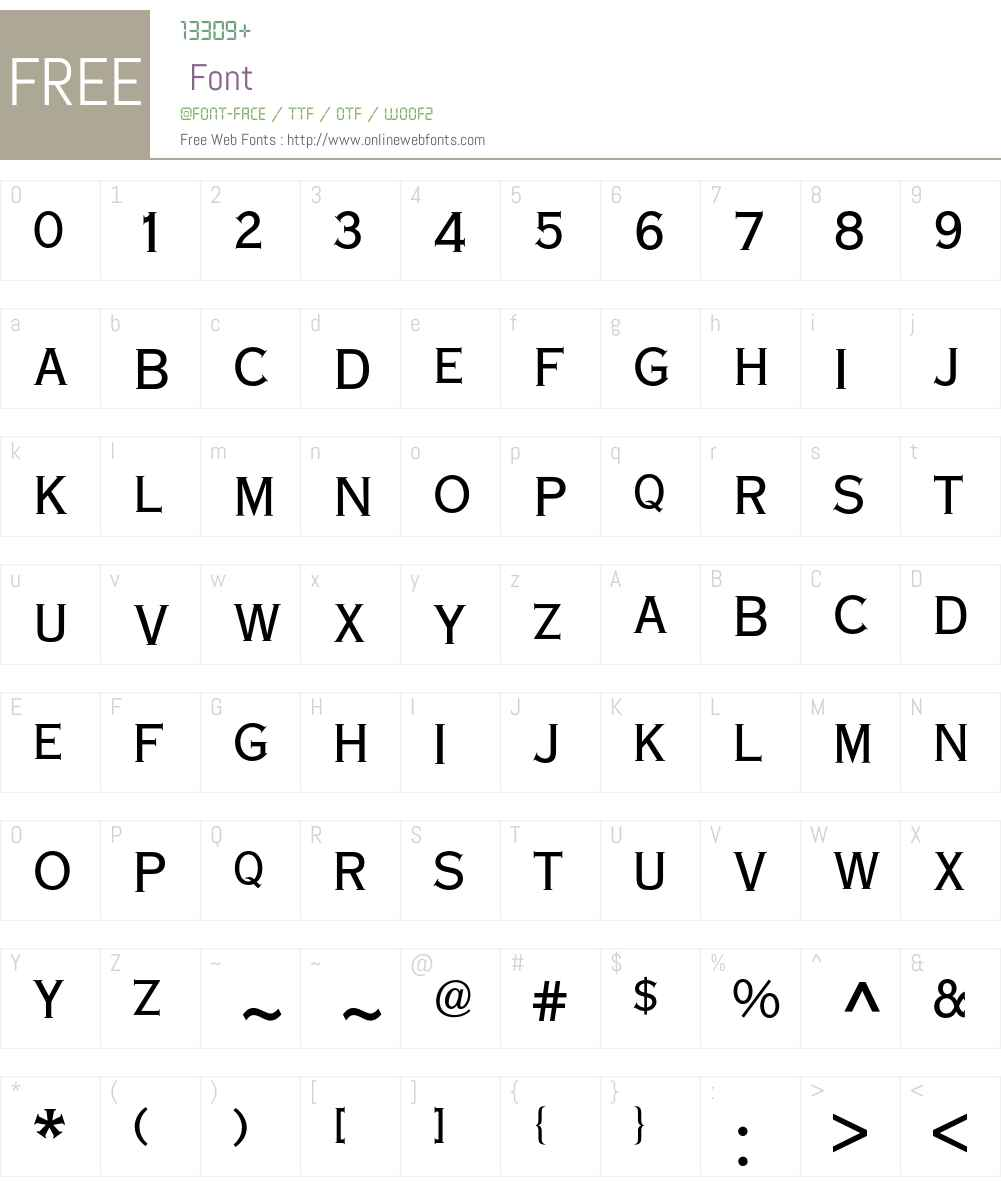 Copperplate BQ Font Screenshots