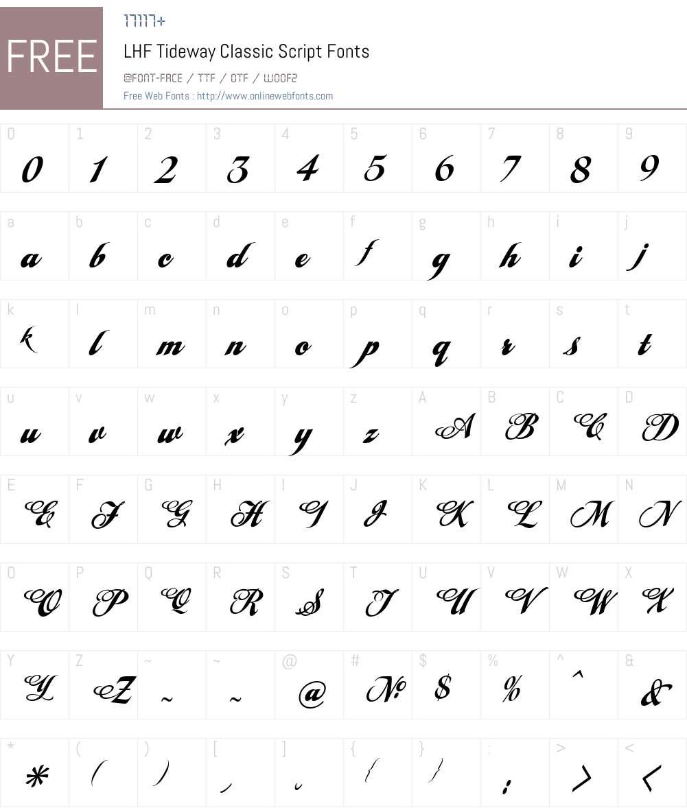 LHF Tideway Classic Script Font Screenshots
