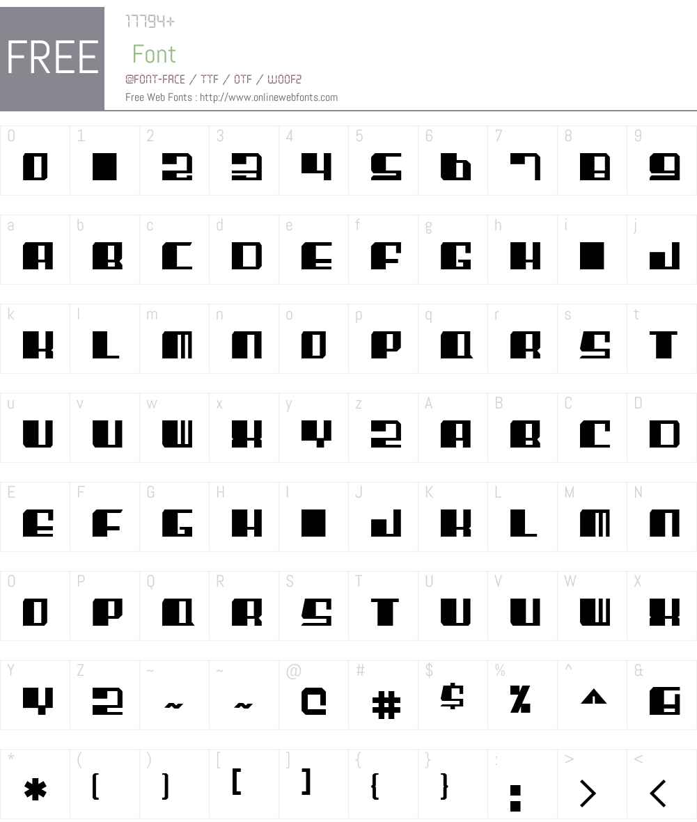 EnsenadaW00-Regular Font Screenshots