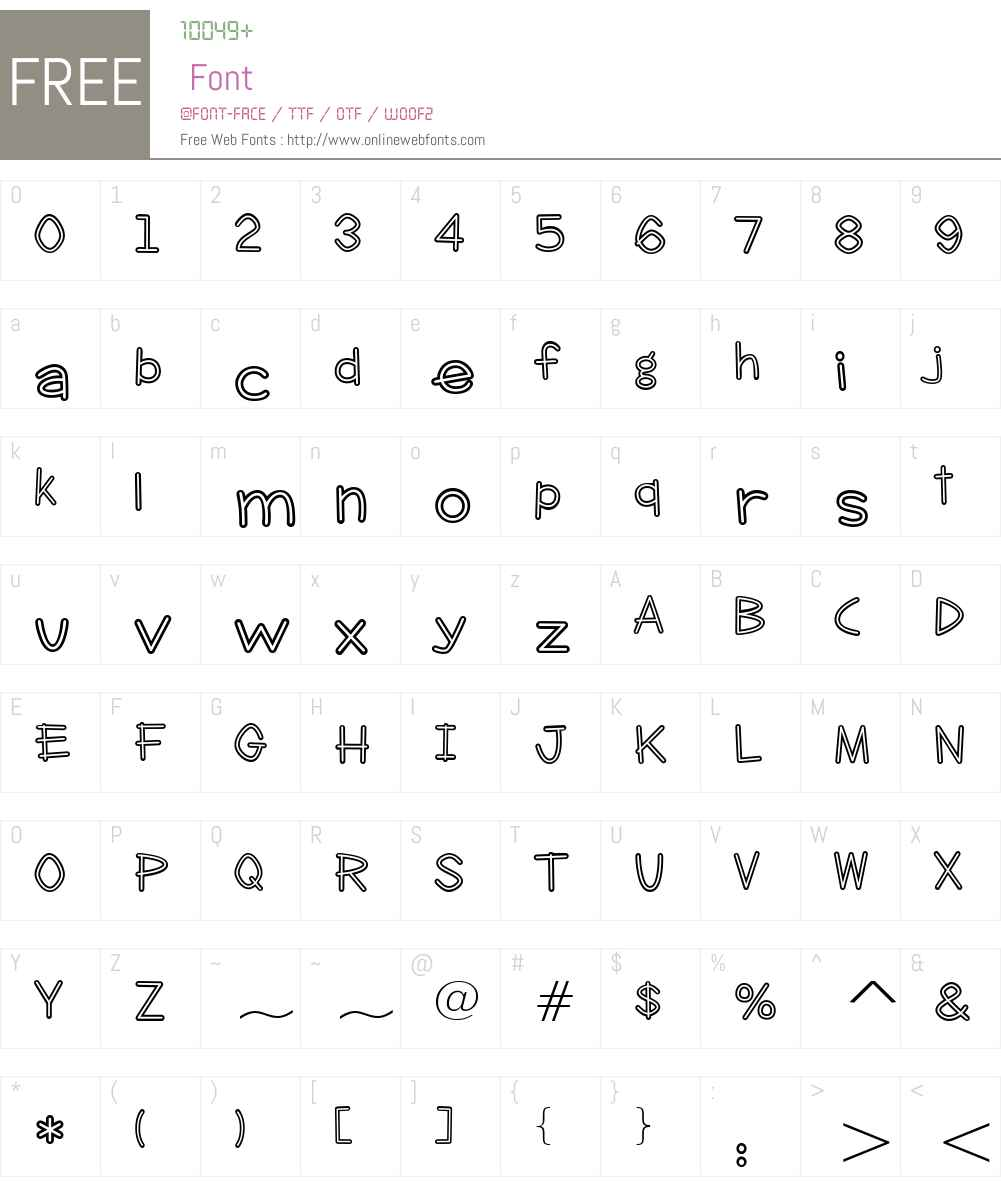 Clever Duke BTN Smooth Inline Font Screenshots