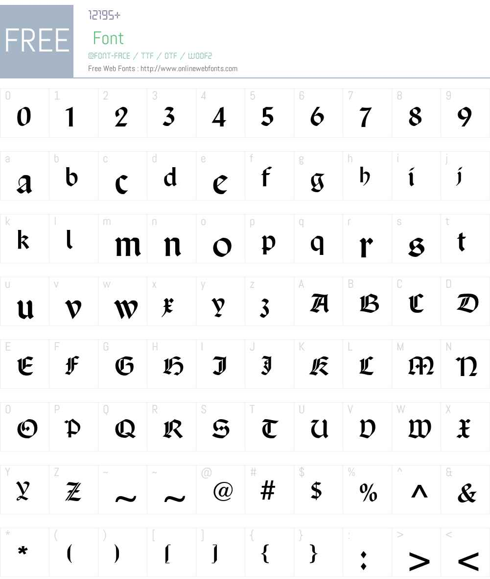 SanMarcoCyr Font Screenshots