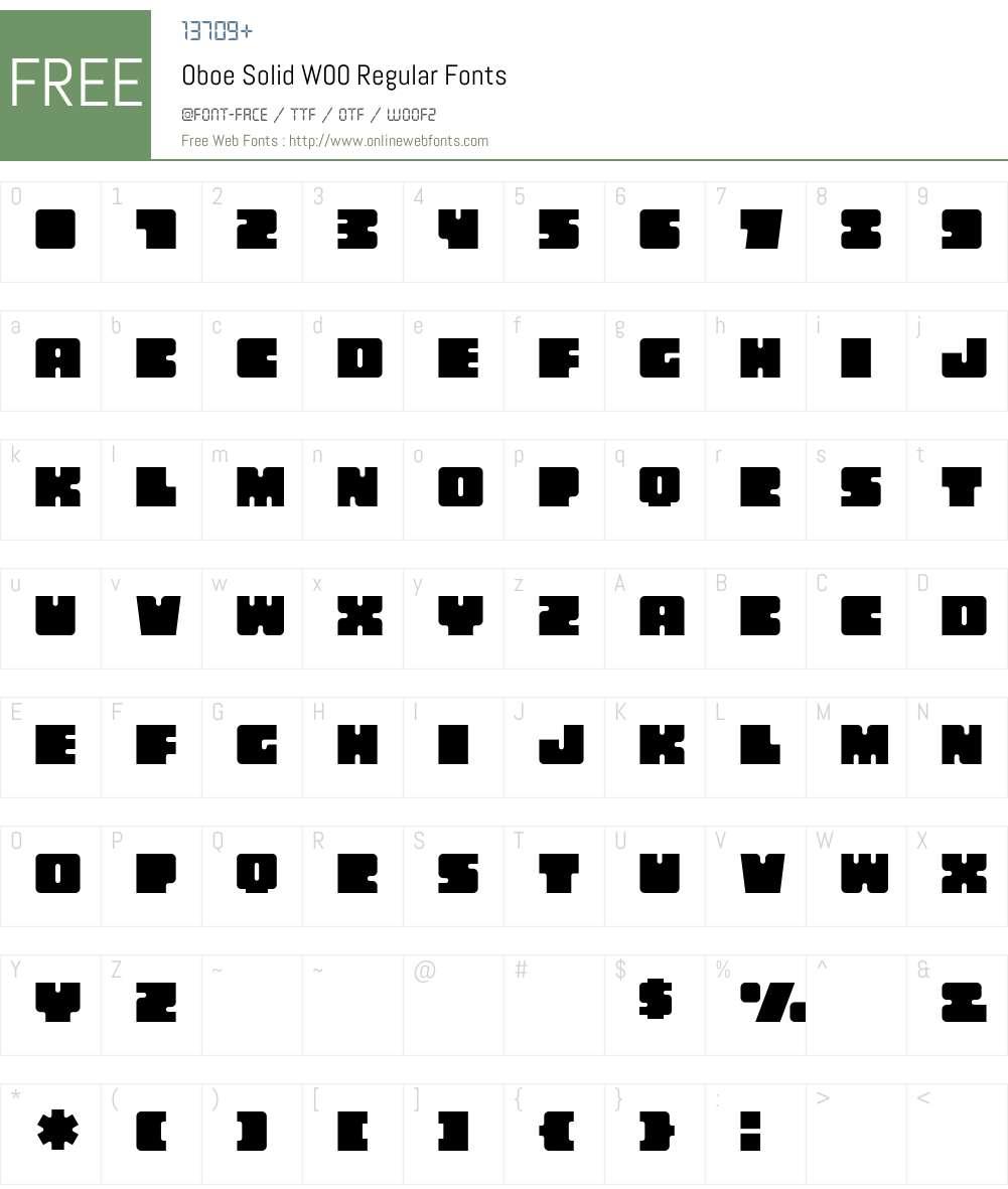 OboeSolidW00-Regular Font Screenshots