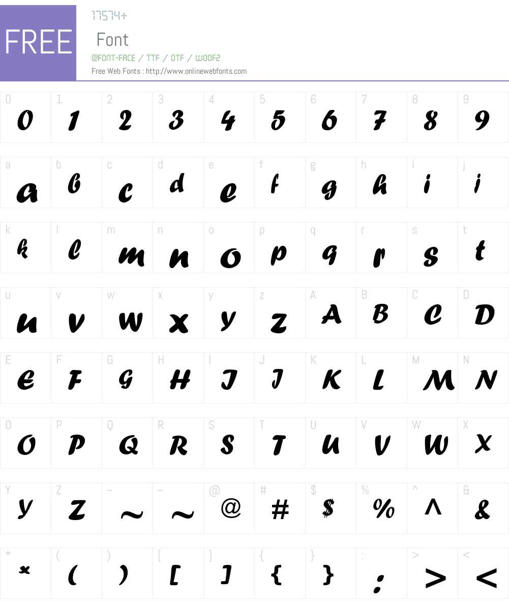 CNganKaiHK Font Screenshots