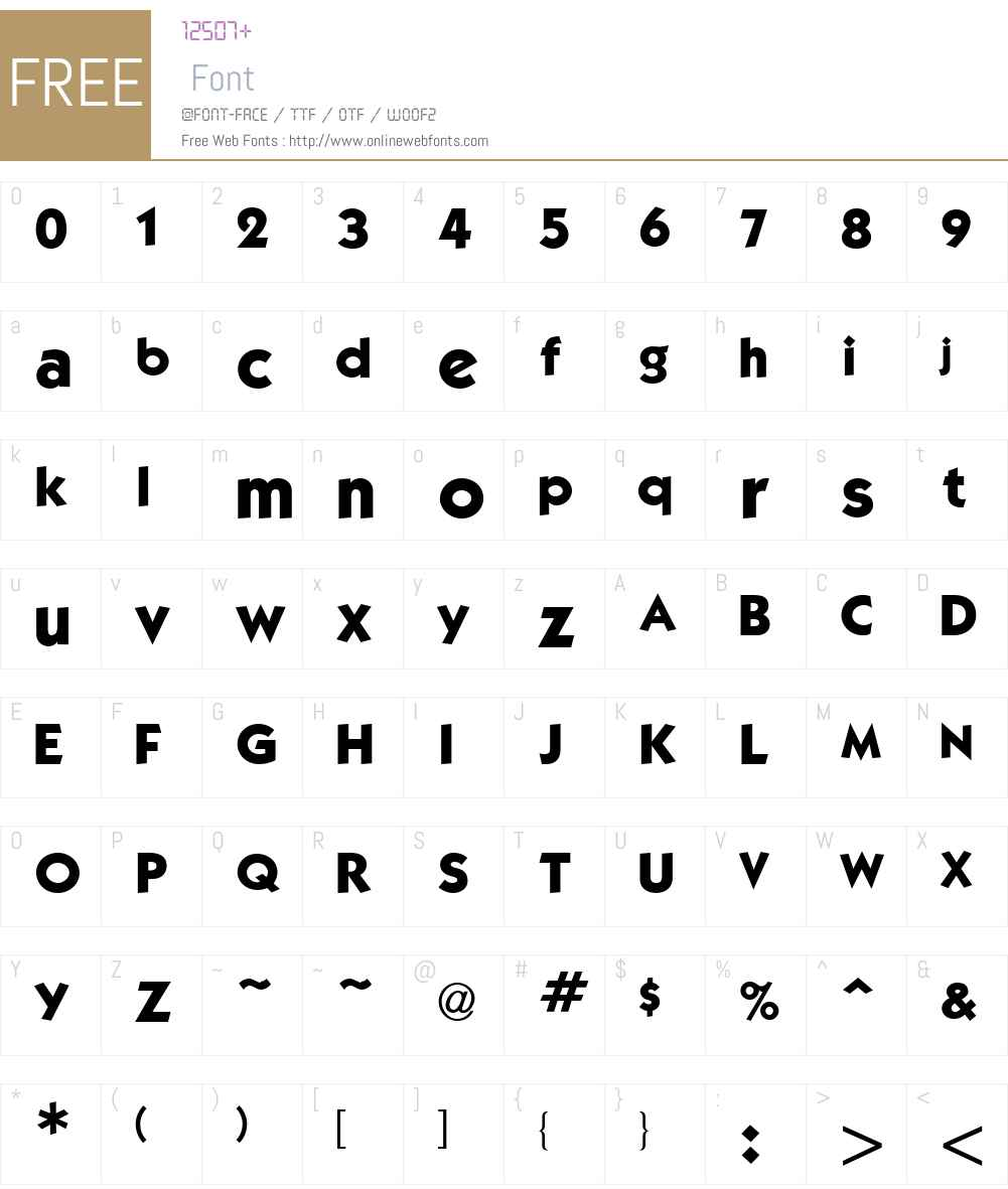 Kabel Bd Font Screenshots