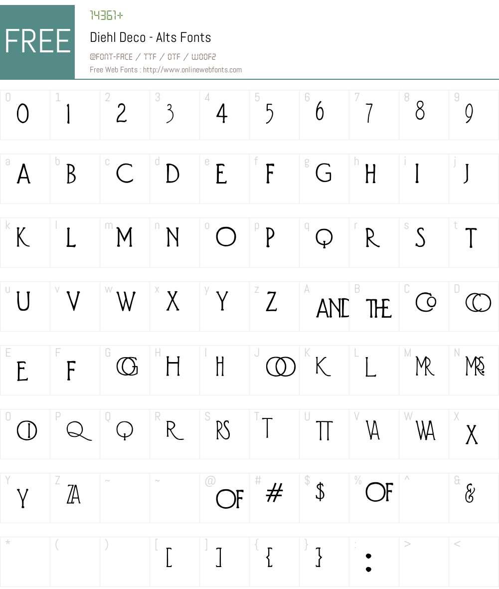 Diehl Deco - Alts Font Screenshots