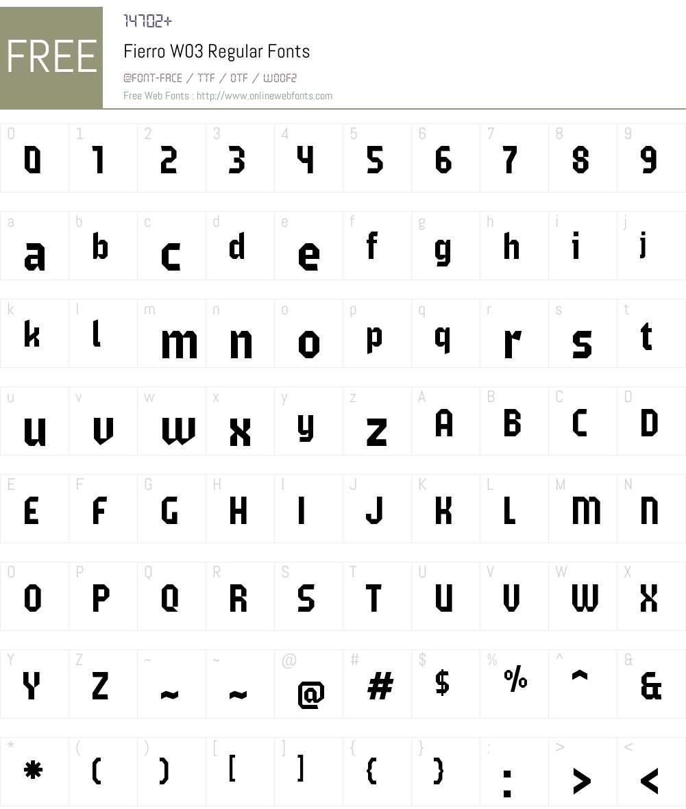 Fierro Font Screenshots