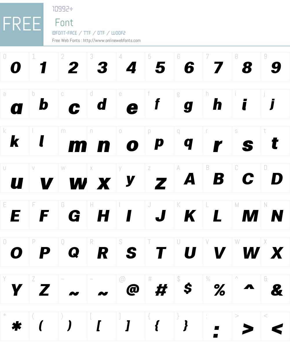 ClinicaW01-BlackItalic Font Screenshots