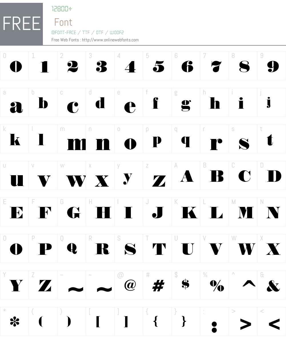 Norway Font Screenshots