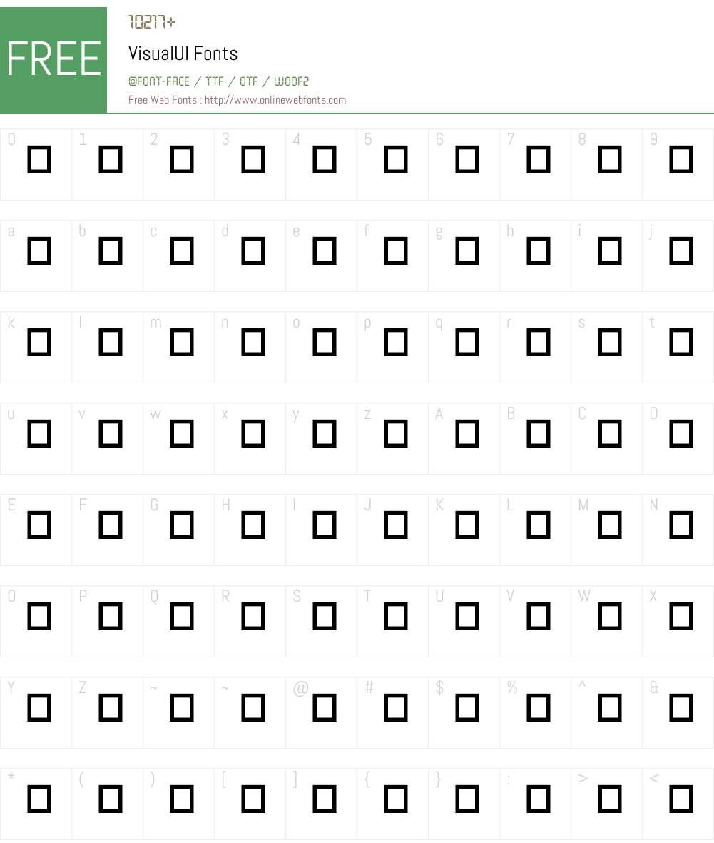 VisualUI Font Screenshots