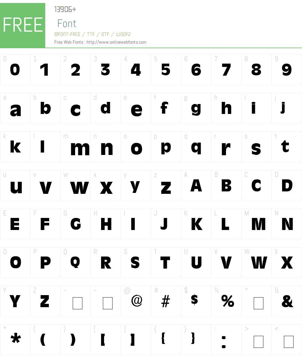 Misce Display SSi Font Screenshots