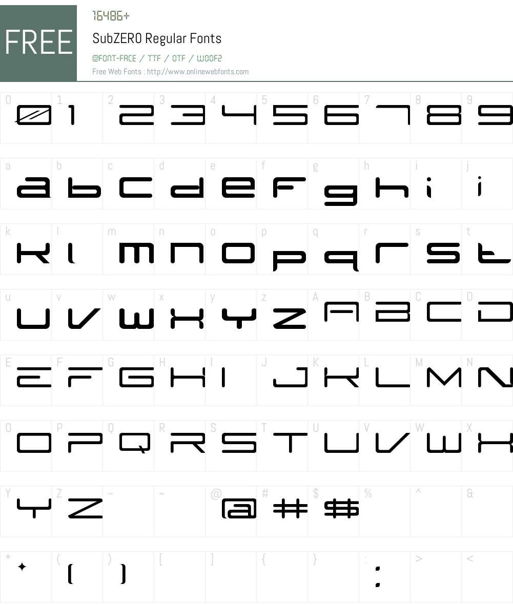 SubZER0 Font Screenshots