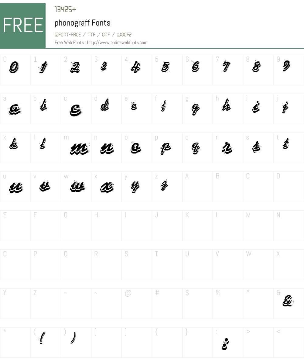 phonograff Font Screenshots