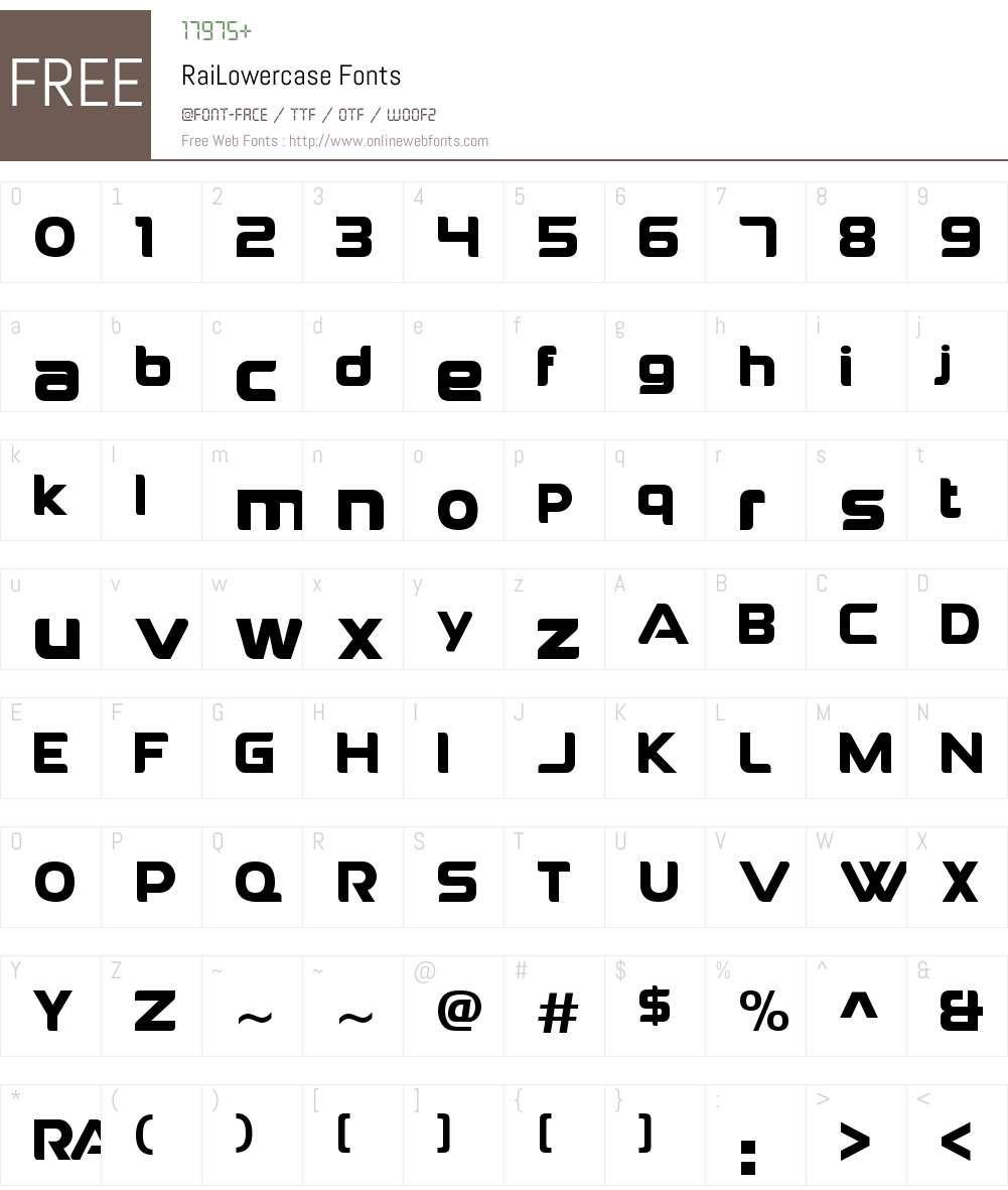 RaiLowercase Font Screenshots