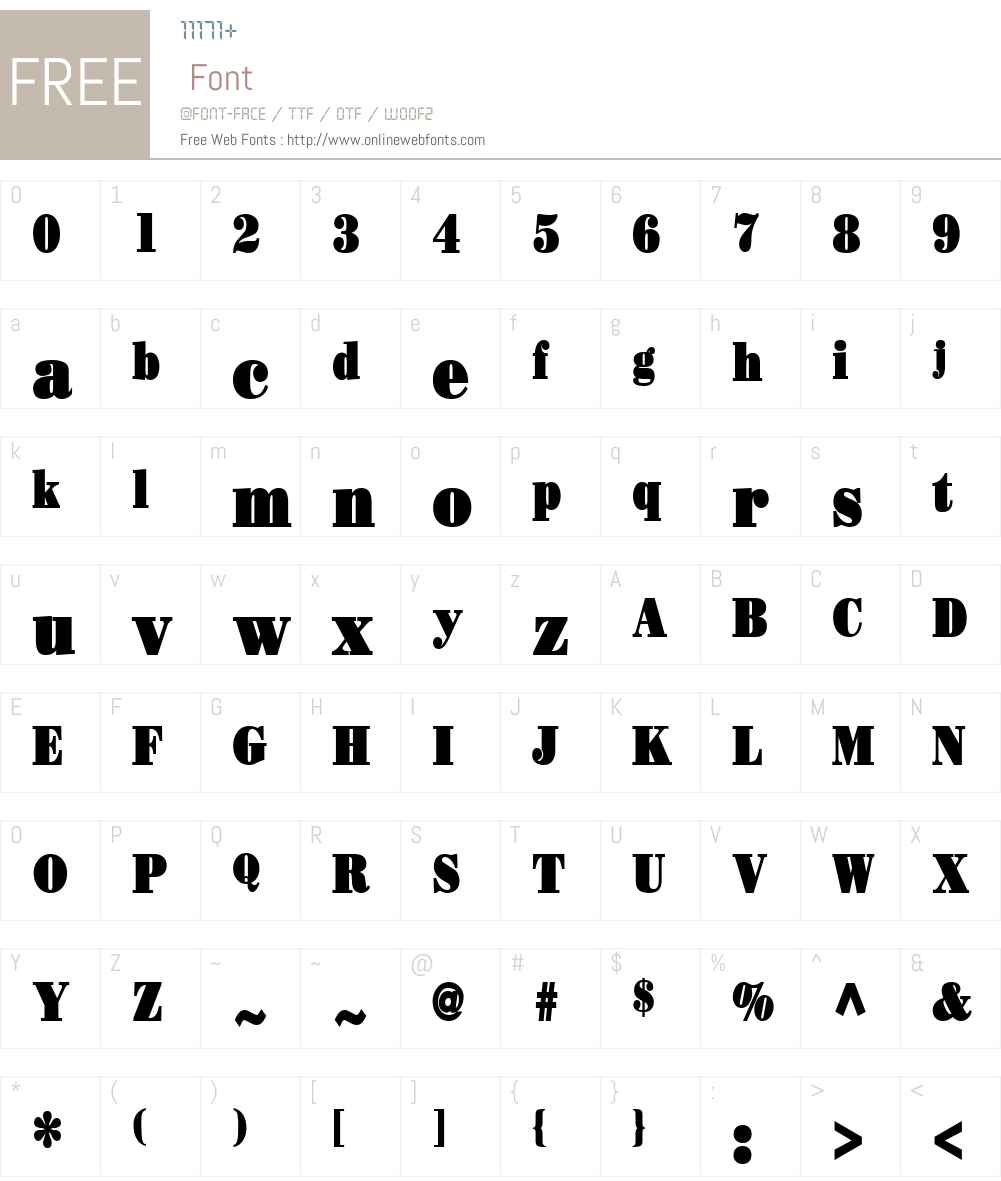 Beau Condensed Font Screenshots