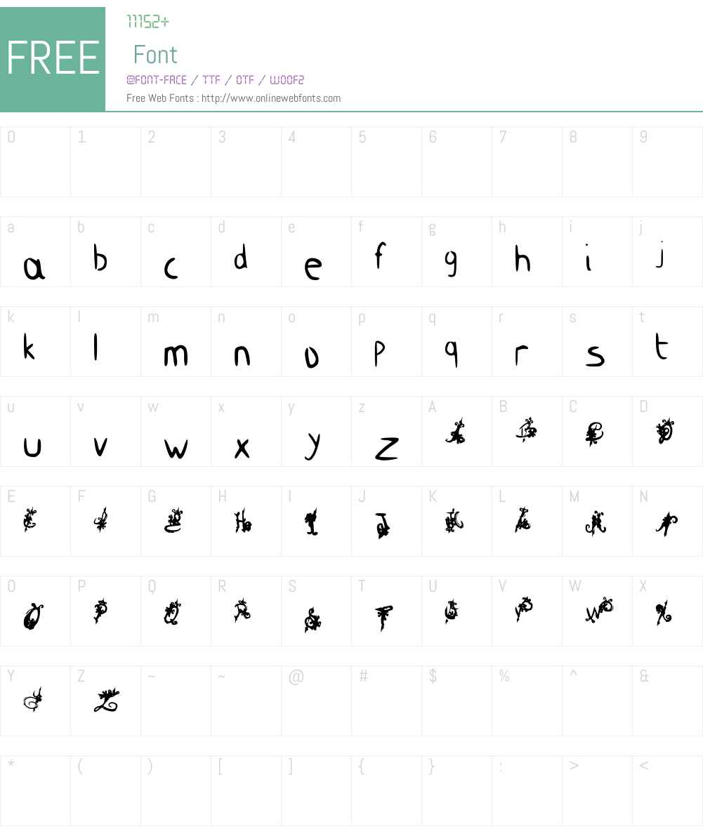 King Dirt Royal Font Screenshots