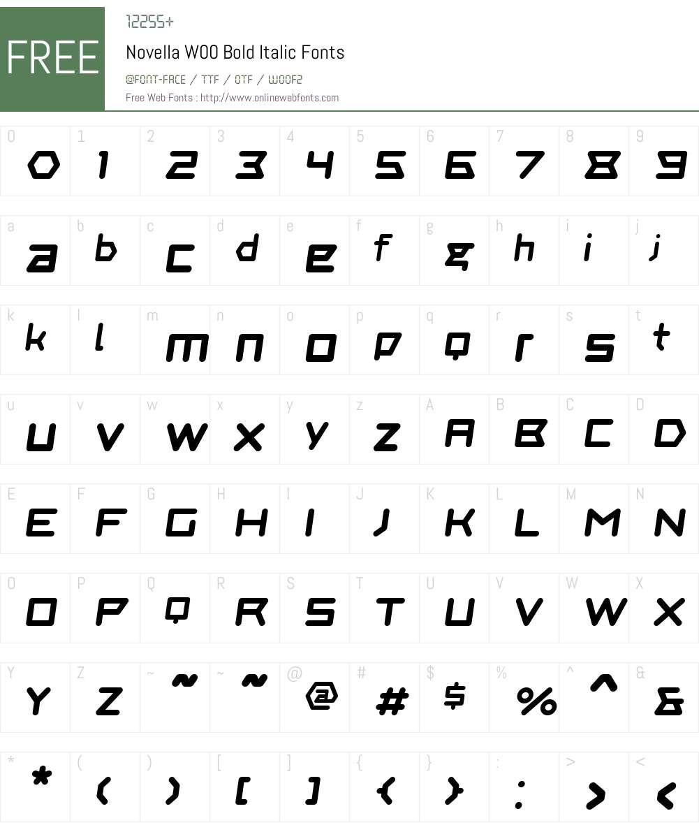 NovellaW00-BoldItalic Font Screenshots