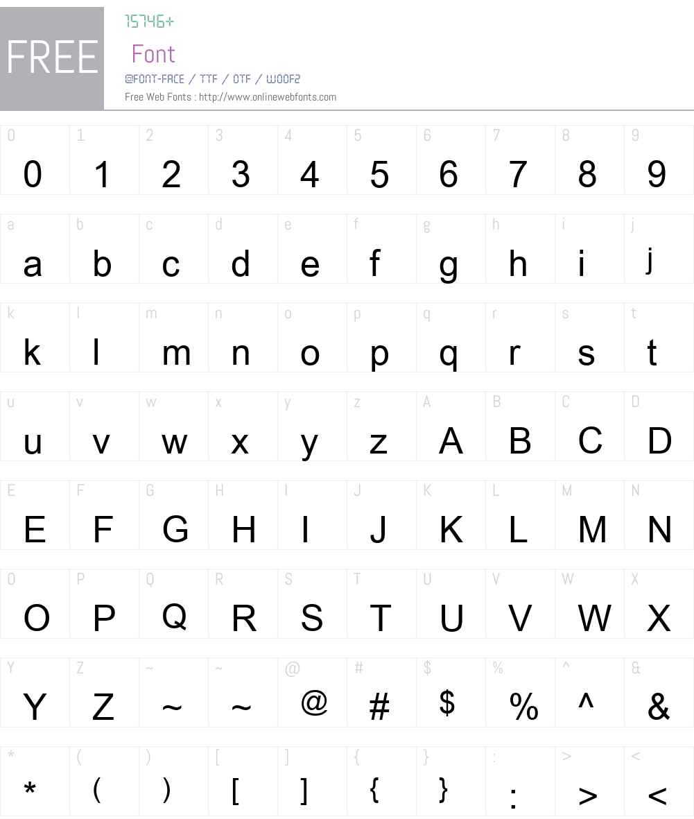 Cordia New Font Screenshots