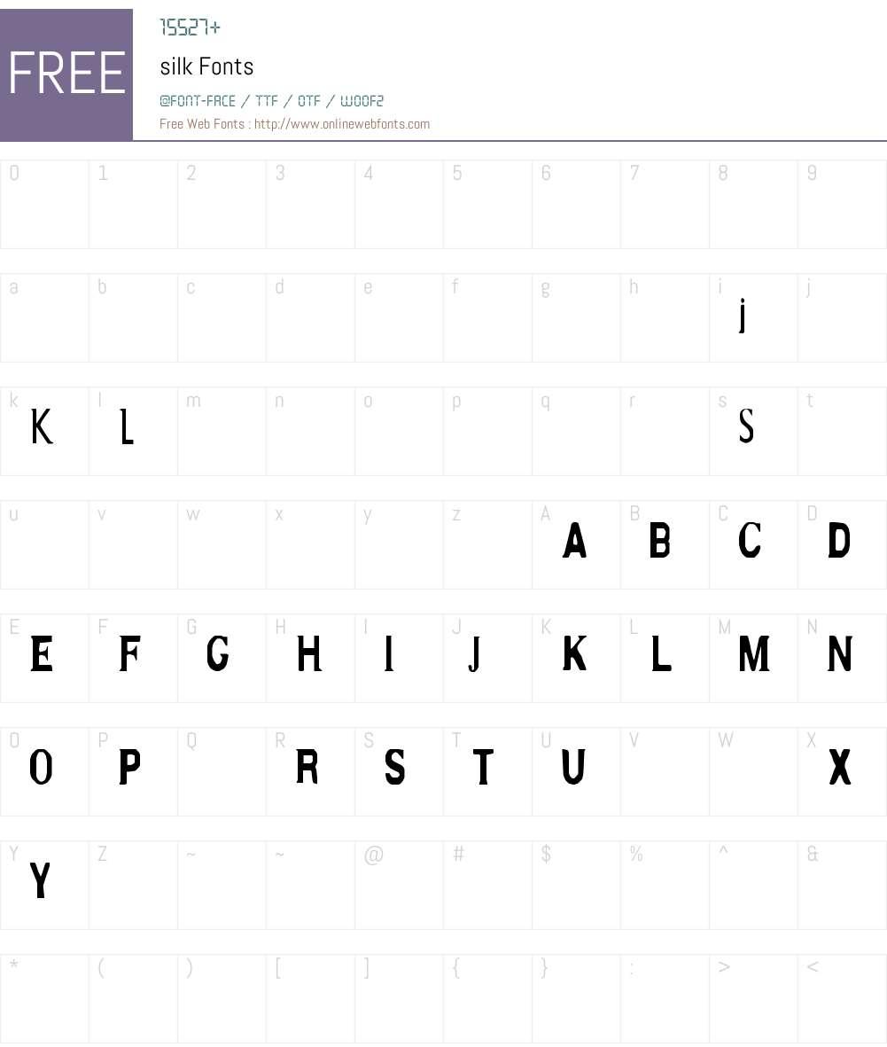 silk Font Screenshots