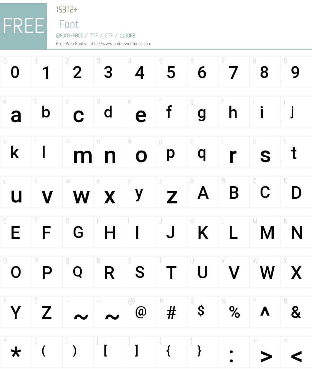 Roboto Font Screenshots