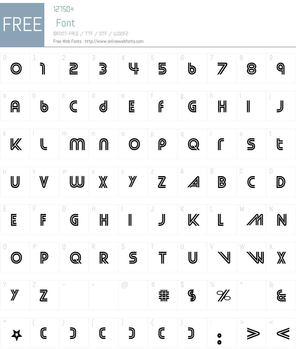 Street Cred Font Screenshots