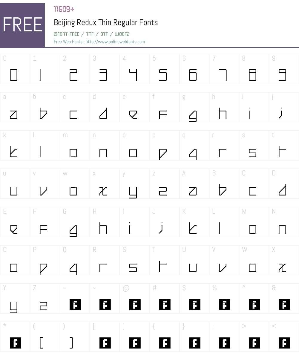 Beijing Redux Thin Font Screenshots