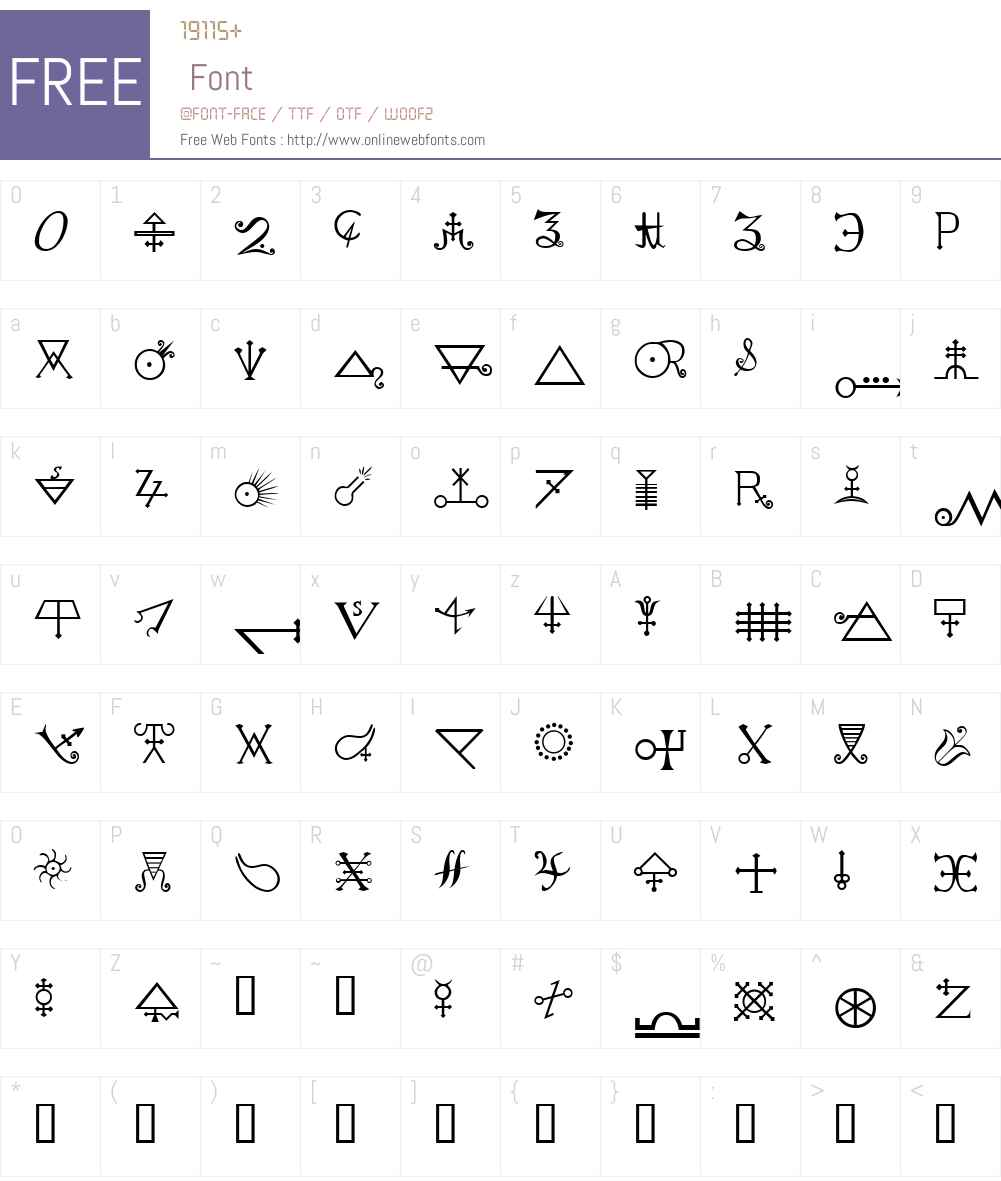 Alchemy A Font Screenshots