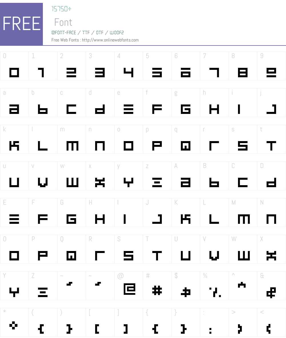 BIN Font Screenshots
