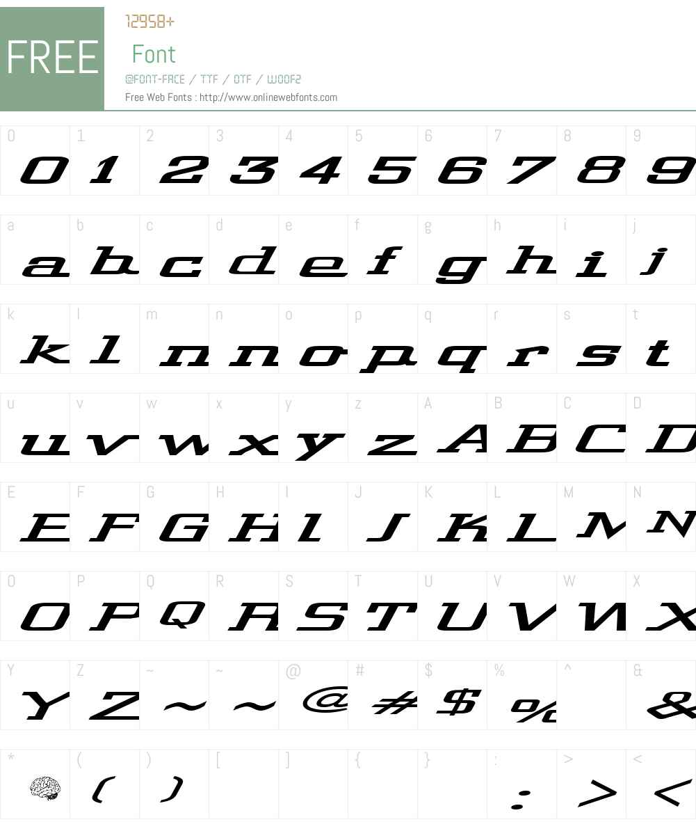 Wide Glide Font Screenshots