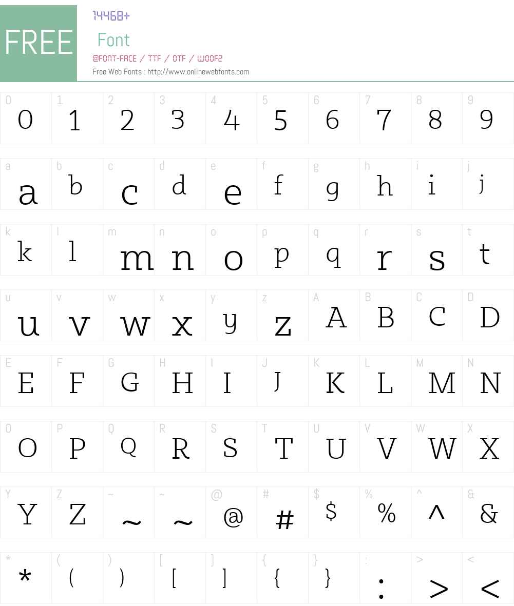 SybillaW00-Thin Font Screenshots
