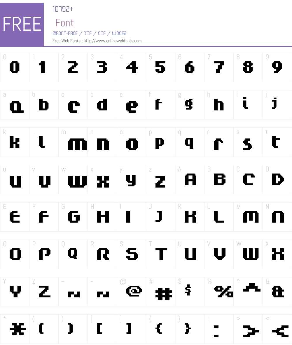FFF Regency Bold Extended Font Screenshots