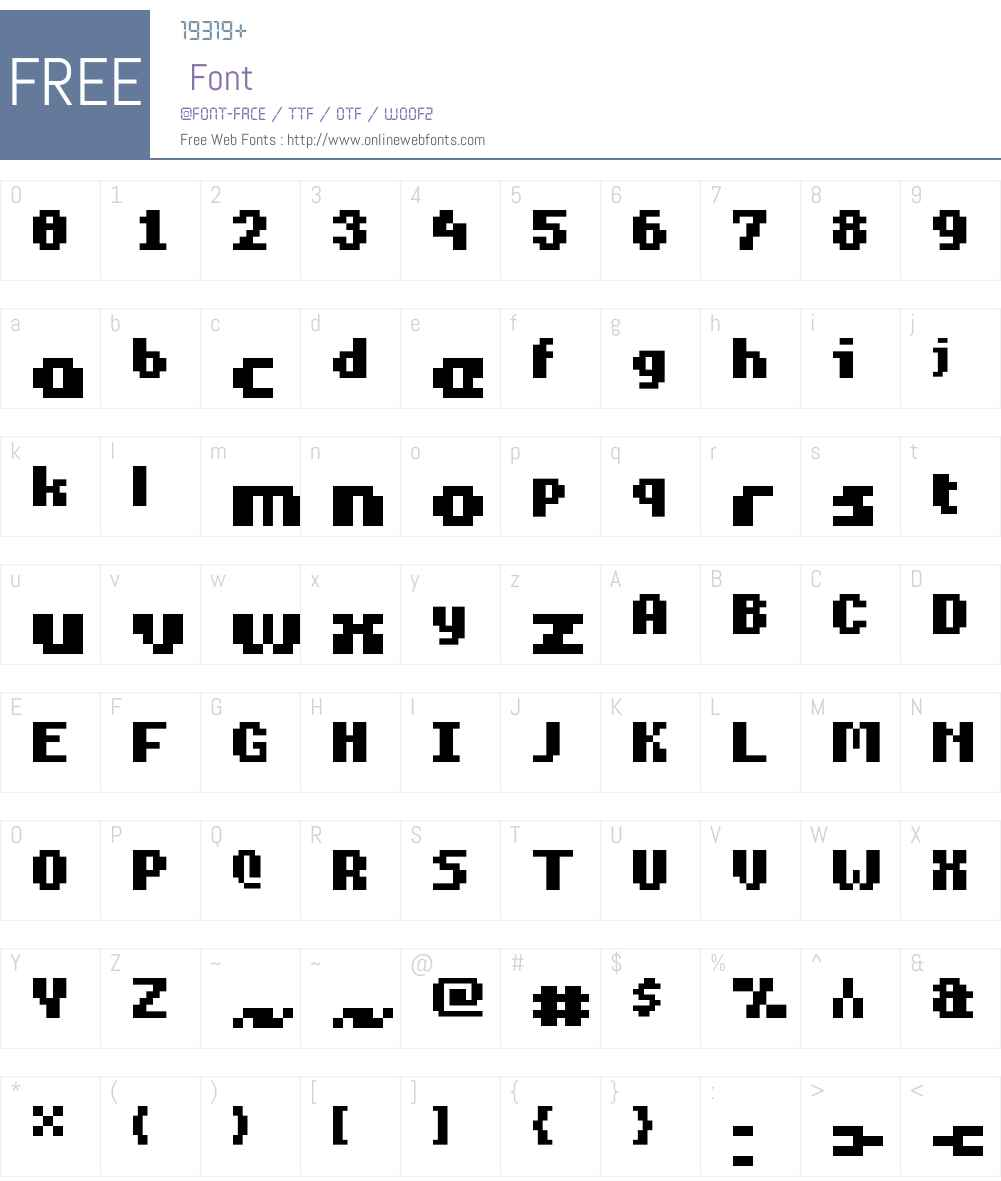 Mouse Pro Font Screenshots