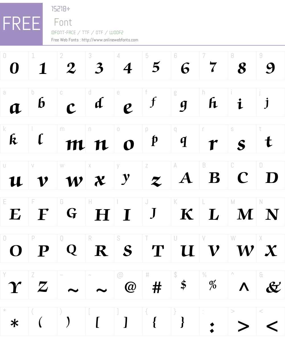 ITC Zapf Chancery Std Font Screenshots