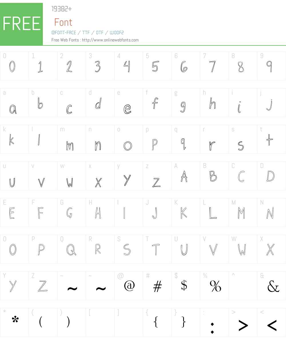 Jiongco Font Screenshots