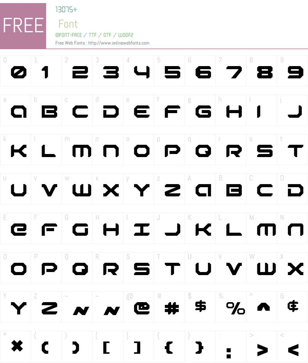 Robotaur Font Screenshots