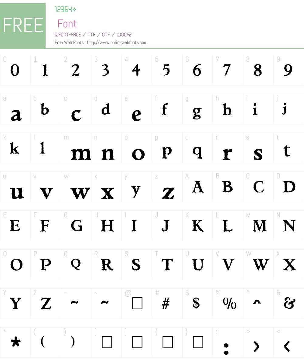 Ticonderoga Font Screenshots