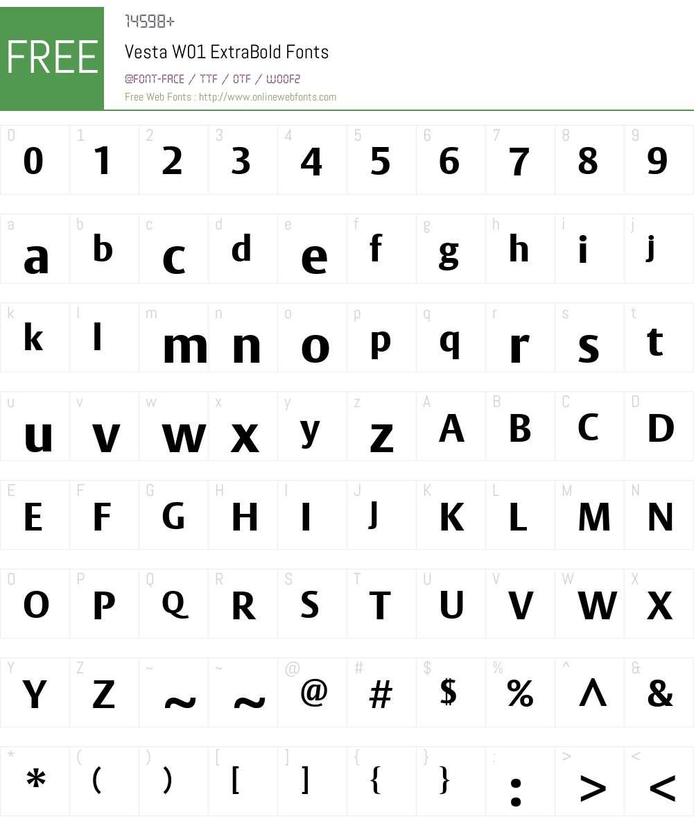 VestaW01-ExtraBold Font Screenshots