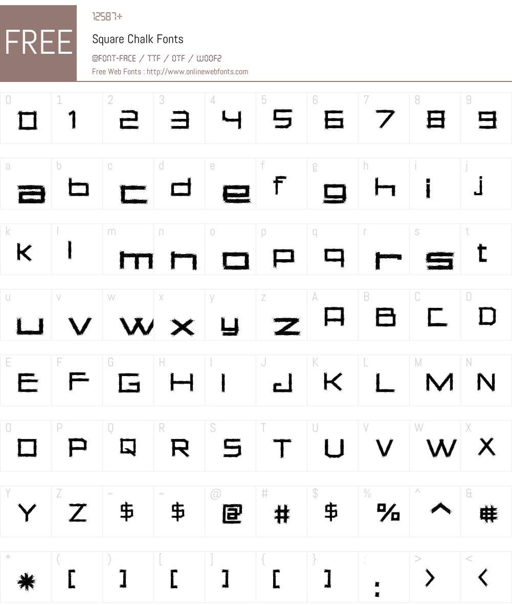 Square Chalk Font Screenshots