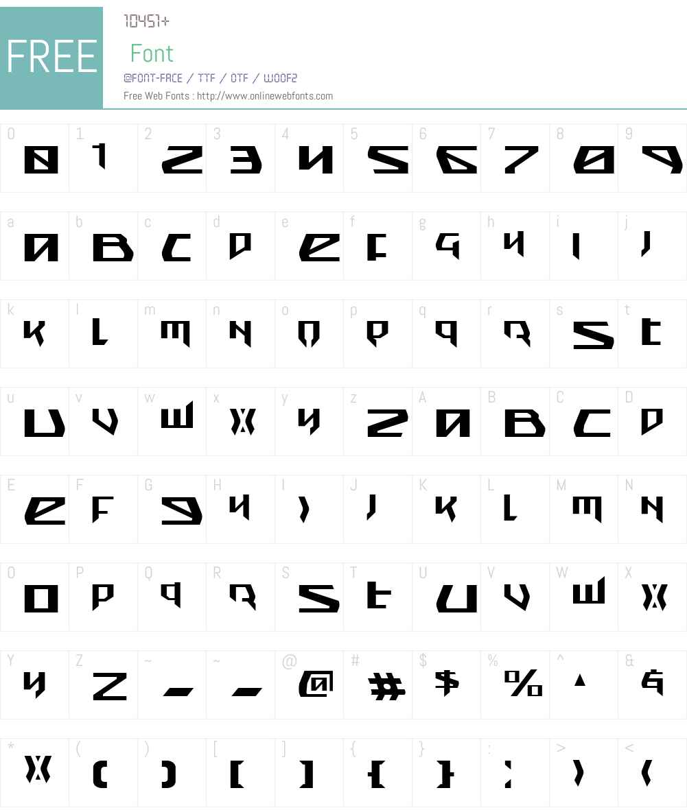 Snubfighter Font Screenshots