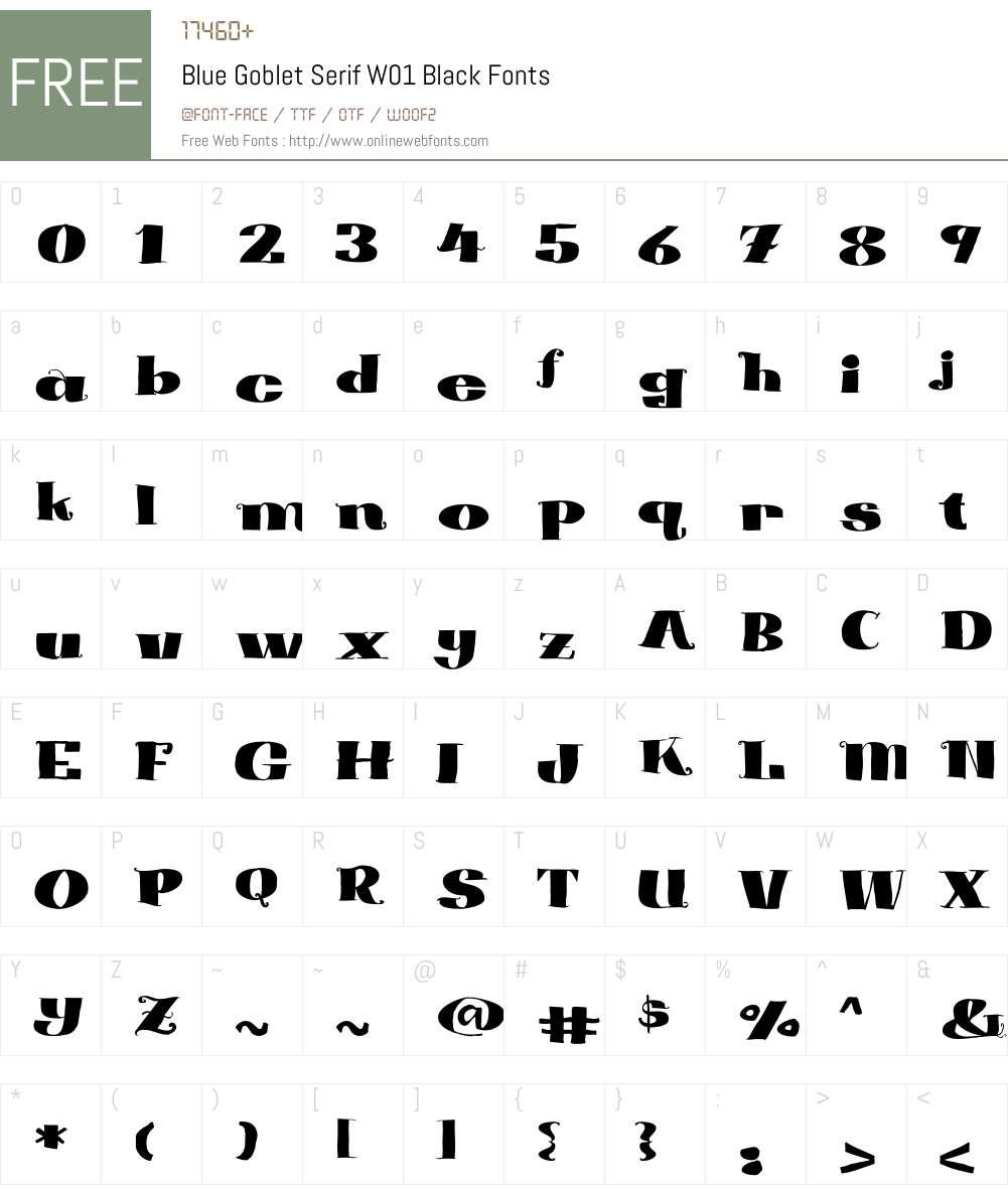 BlueGobletSerifW01-Black Font Screenshots