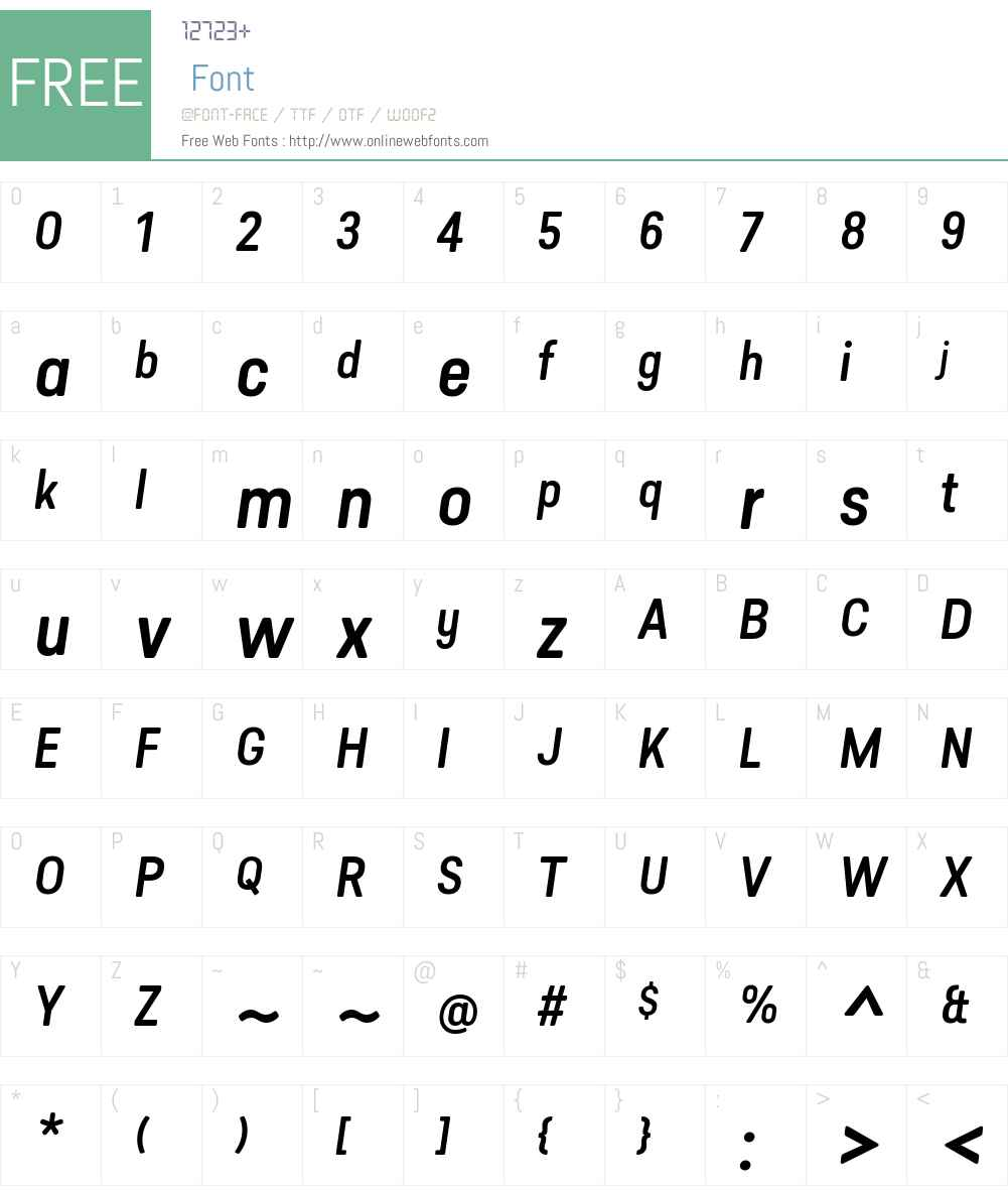 Predige Rounded Med Font Screenshots
