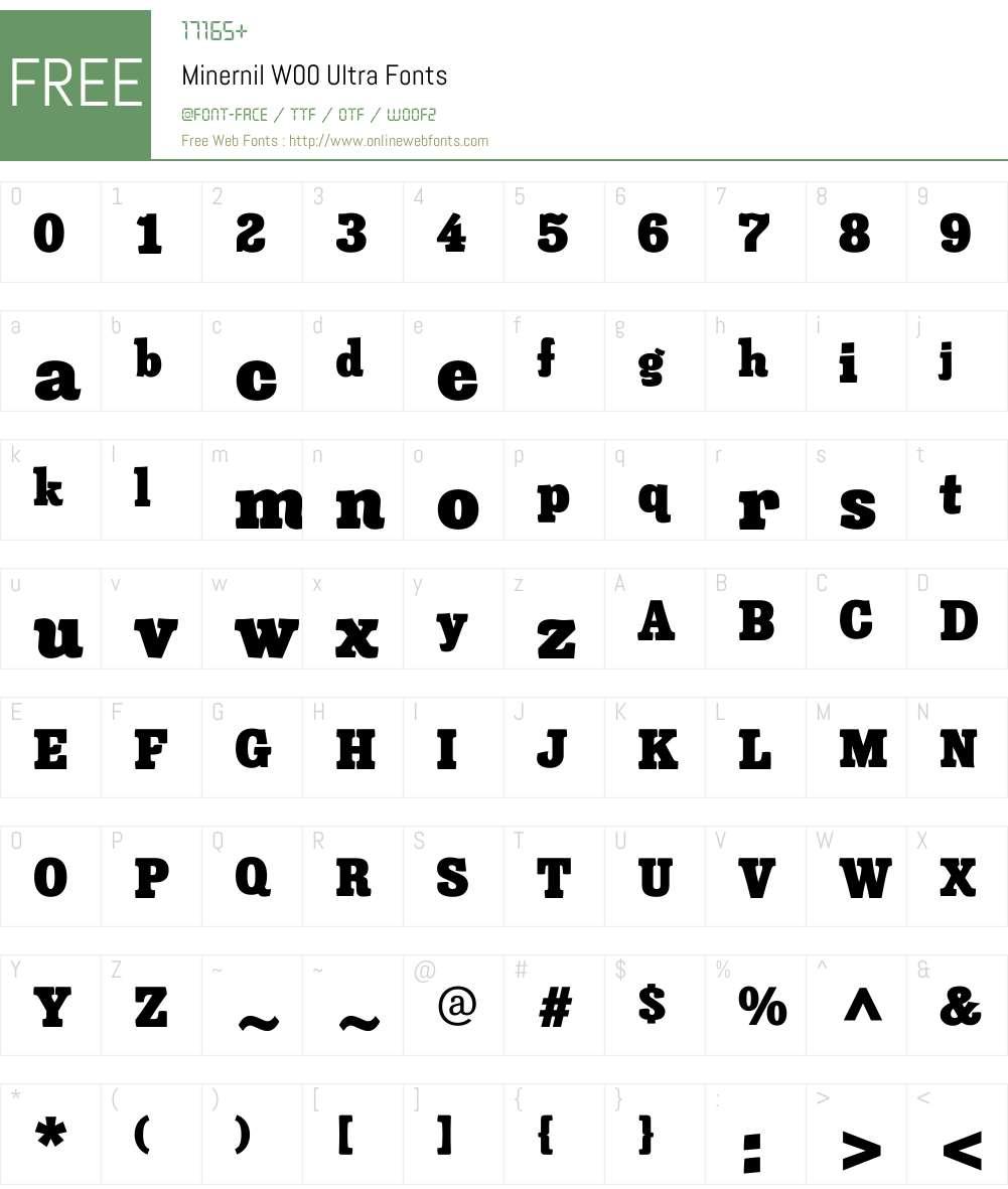 MinernilW00-Ultra Font Screenshots