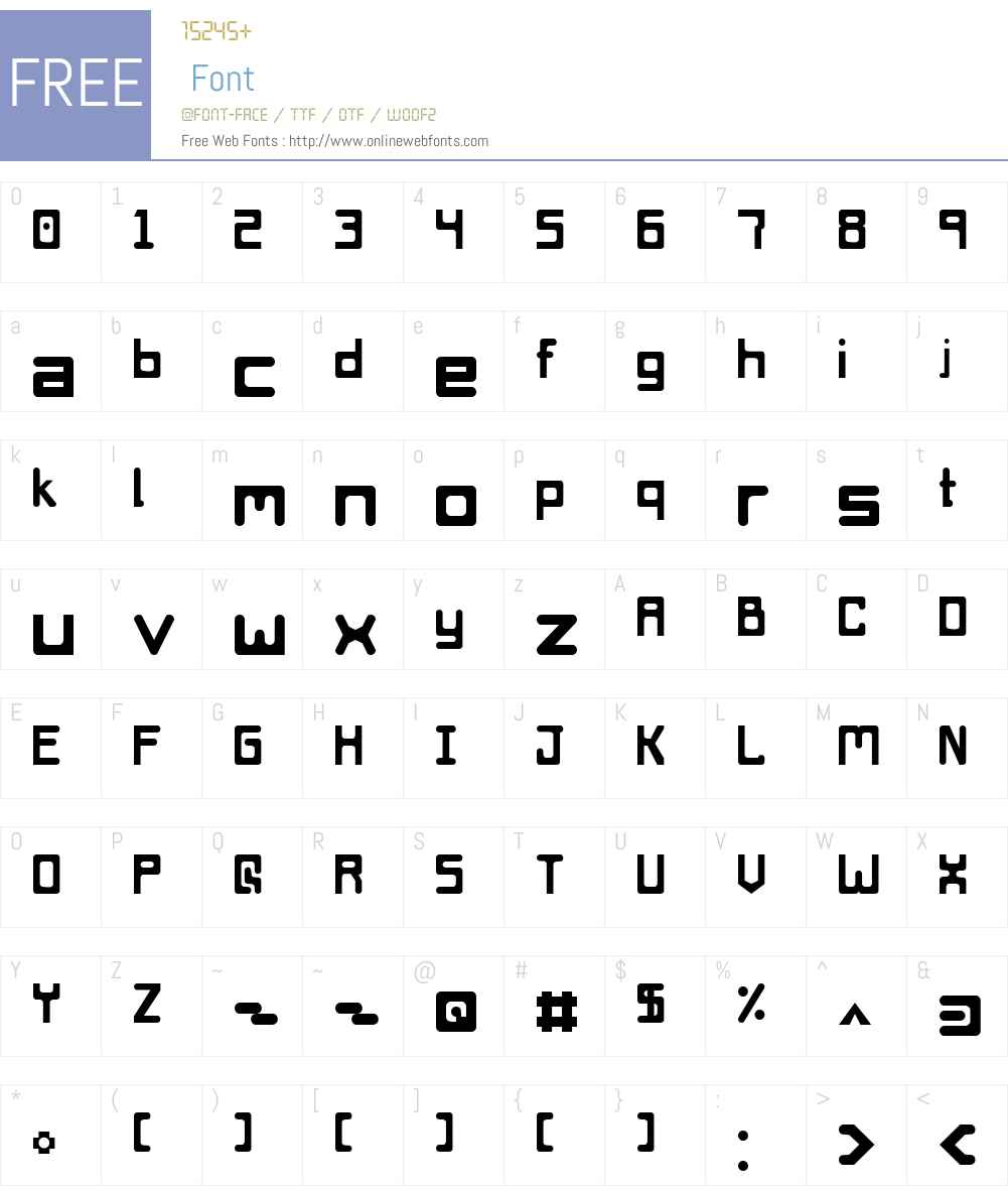 Das Space Fiend Font Screenshots