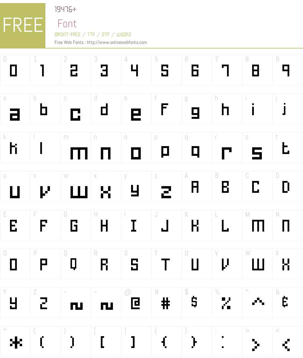Homespun TT BRK Font Screenshots