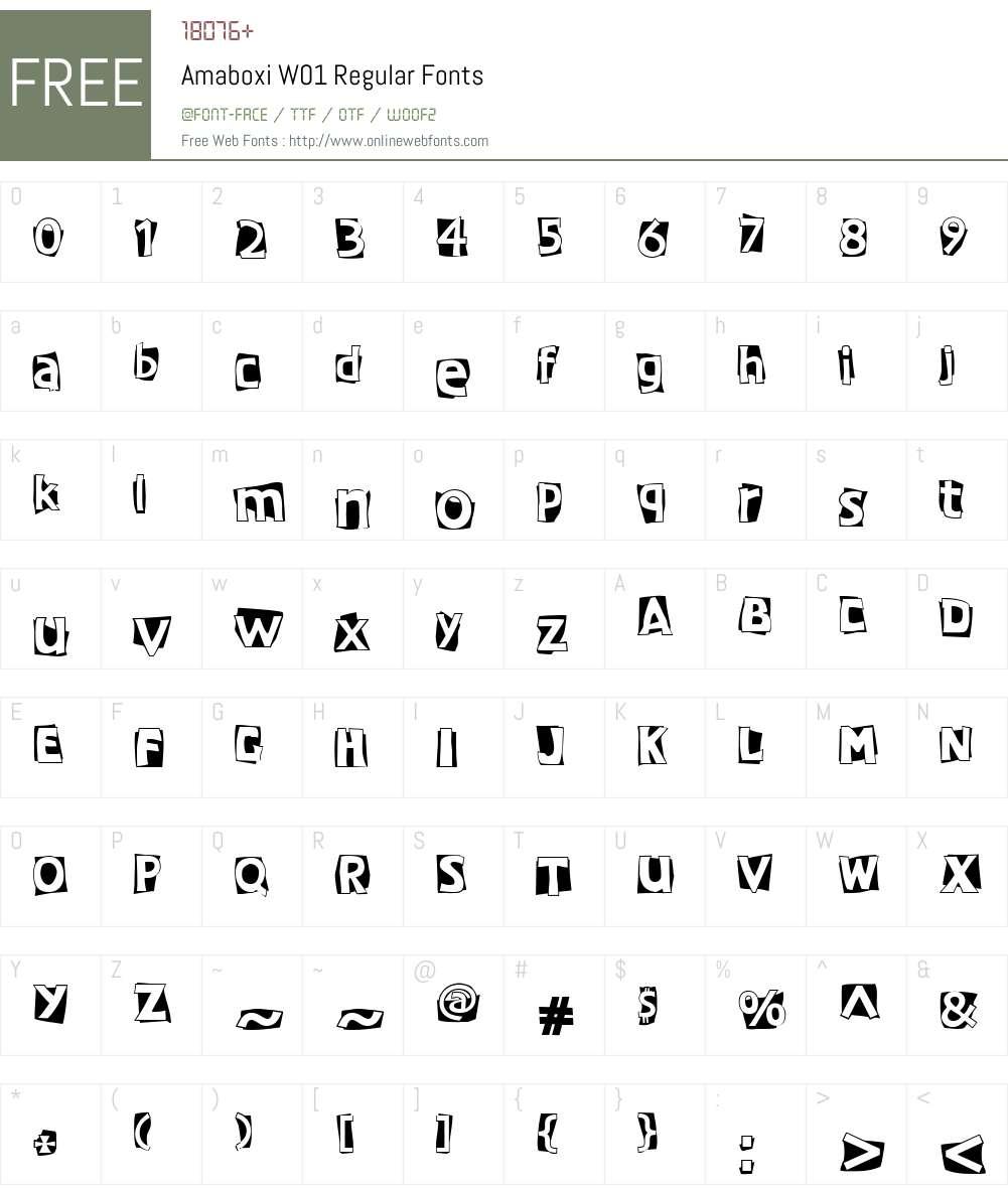 AmaboxiW01-Regular Font Screenshots