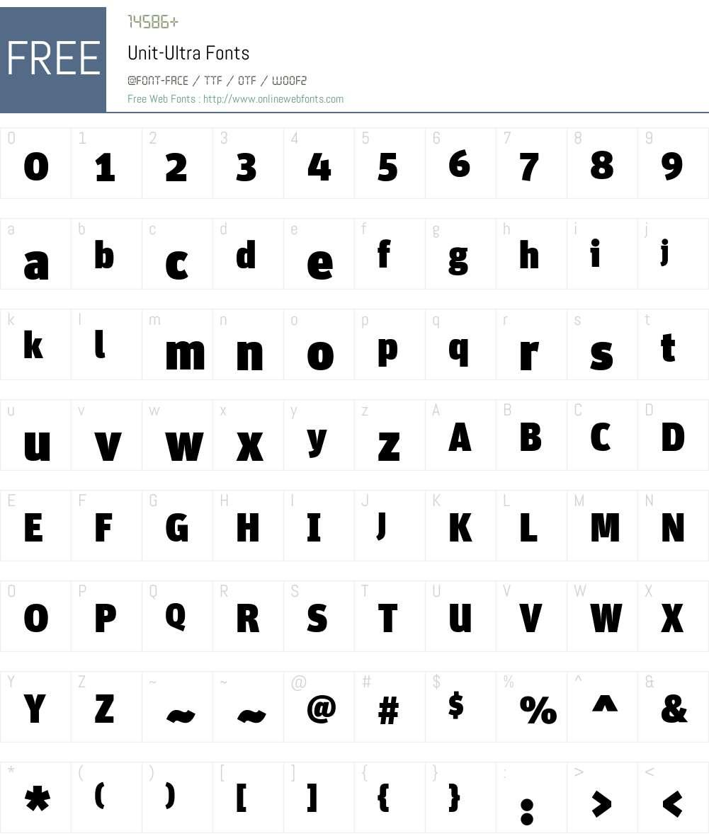 Unit-Ultra Font Screenshots