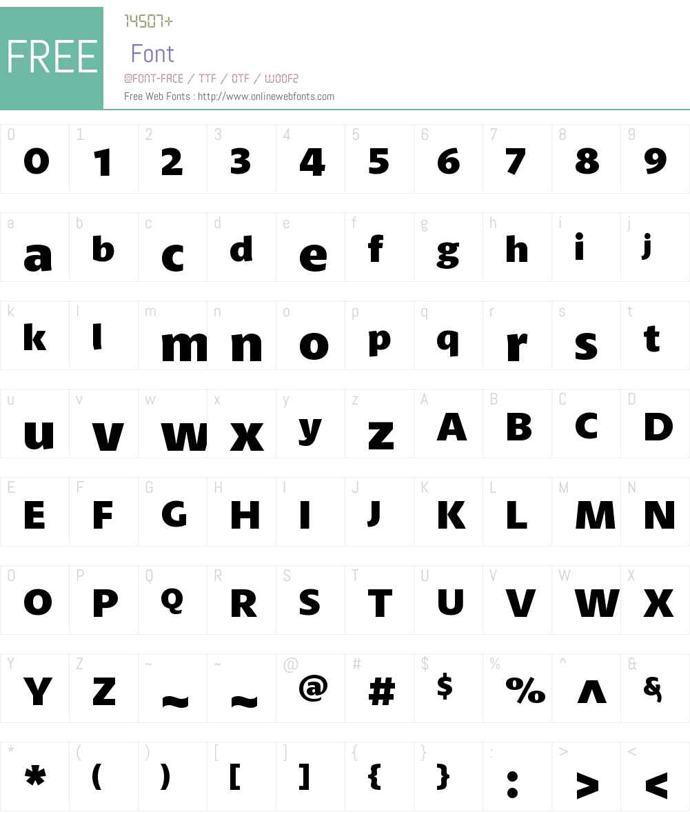 PetalaW01-ExtraBold Font Screenshots